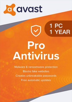 Avast Antivirus pro 1 User (1 Year)